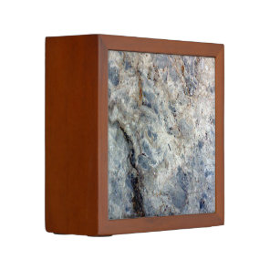 Ice blue white marble stone finish Pencil/Pen holder