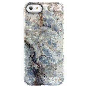 Ice blue white marble stone finish permafrost iPhone SE/5/5s case
