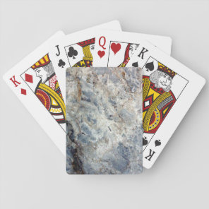 Ice blue white marble stone finish playing cards