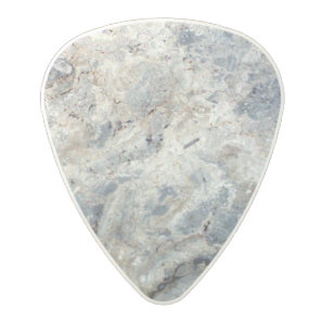 Ice blue white marble stone finish polycarbonate guitar pick