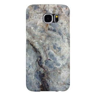 Ice blue white marble stone finish samsung galaxy s6 case