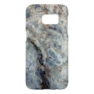 Ice blue white marble stone finish samsung galaxy s7 case