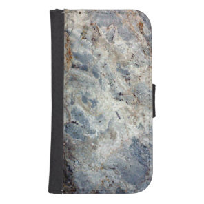 Ice blue white marble stone finish samsung s4 wallet case