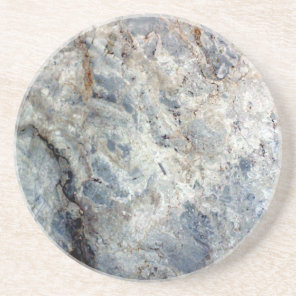 Ice blue white marble stone finish sandstone coaster