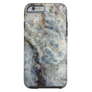 Ice blue white marble stone finish tough iPhone 6 case