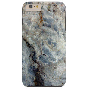 Ice blue white marble stone finish tough iPhone 6 plus case