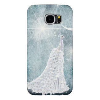 Ice Blue White Peacock Star Burst Samsung Galaxy S6 Case