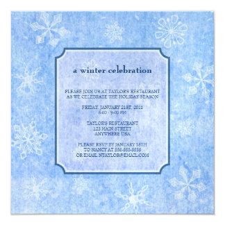 Ice Blue Winter Blizzard Invitation