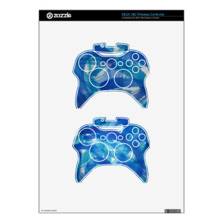 Ice Blue XBOX 360 Wireless Remotes Xbox 360 Controller Decal