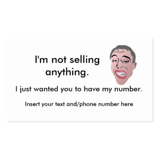 Ice breaker/ My phone number cards