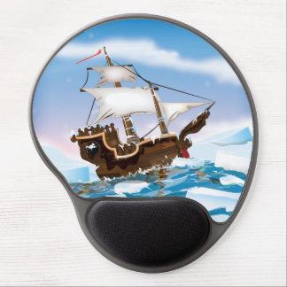 Ice Breaker Ship Cartoon Gel Mouse Pad