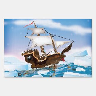Ice Breaker Ship Lawn Signs