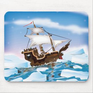 Ice Breaker Ship Mouse Pad