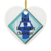 Ice Bucket Challenge Ceramic Ornament