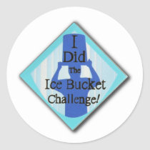 Ice Bucket Challenge Classic Round Sticker