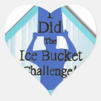 Ice Bucket Challenge Heart Sticker