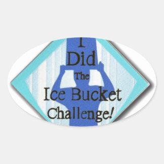 Ice Bucket Challenge Oval Sticker