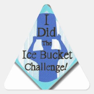 Ice Bucket Challenge Triangle Sticker