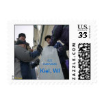 Ice Carving - Kiel, Wisconsin Postage Stamps