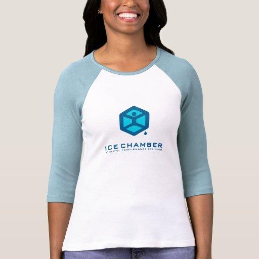 Ice Chamber Ladies 3/4 Sleeve Raglan Fitted Shirts