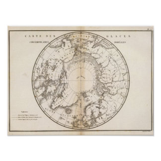 Ice Chart boreal Poster