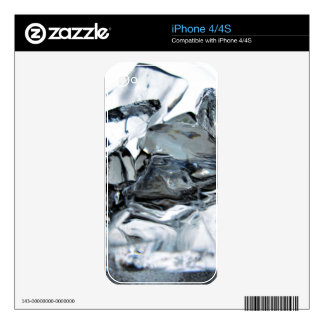 ice chill crystal clear water cold iPhone 4 skins