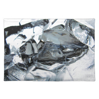 ice chill crystal clear water cold placemat