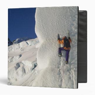 Ice climbing on the Tasman Glacier below Mount Vinyl Binder