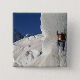 Ice climbing on the Tasman Glacier below Mount Button