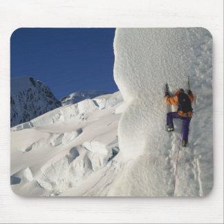 Ice climbing on the Tasman Glacier below Mount Mousepads