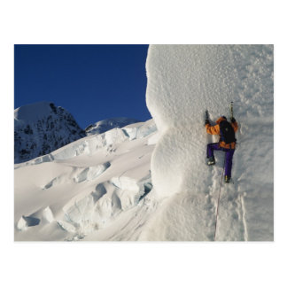 Ice climbing on the Tasman Glacier below Mount Postcard