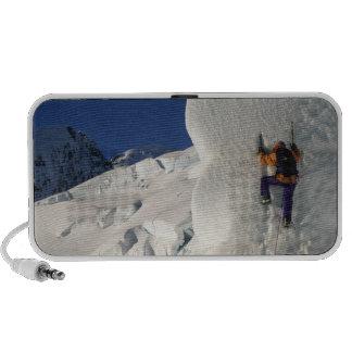 Ice climbing on the Tasman Glacier below Mount Travelling Speaker