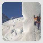Ice climbing on the Tasman Glacier below Mount Stickers