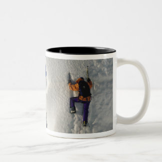 Ice climbing on the Tasman Glacier below Mount Two-Tone Coffee Mug