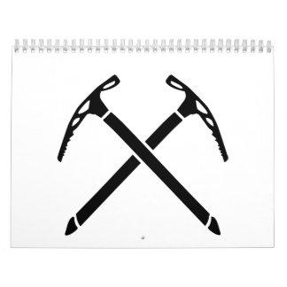 Ice climbing picks axe wall calendars