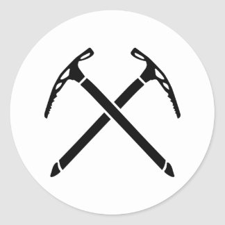 Ice climbing picks axe classic round sticker