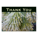 Ice-Coated Pine Needles Thank You Card