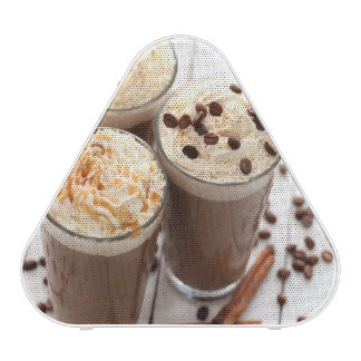 Ice coffee with whipped cream and coffee beans bluetooth speaker