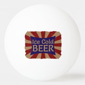 Ice Cold Beer Ping Pong Ball