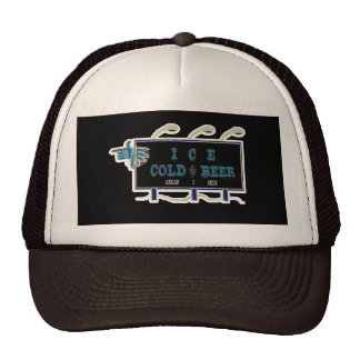 Ice Cold Beer Sign- Black and Blue Trucker Hat