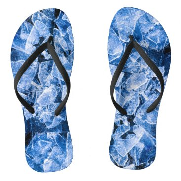 Beach Themed Ice cold cool flip flops