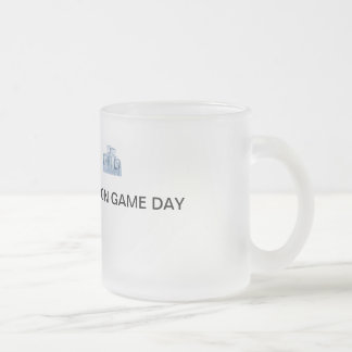 ICE COLD ON GAME DAY FROSTED GLASS COFFEE MUG