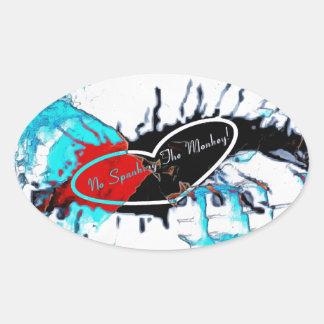 Ice Cold SMACK Oval Sticker