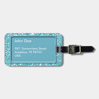 Ice Cold Snowflakes pattern Bag Tag