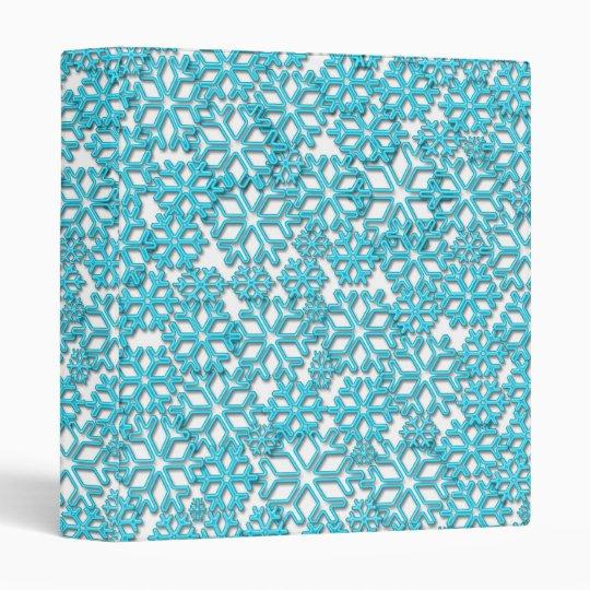 Ice Cold Snowflakes pattern Binder