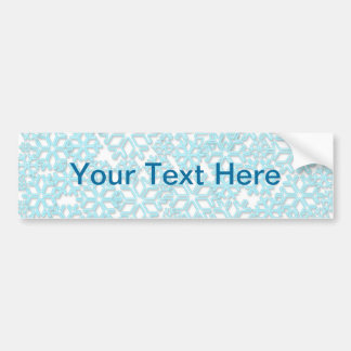 Ice Cold Snowflakes pattern Car Bumper Sticker