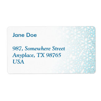 Ice Cold Snowflakes pattern Personalized Shipping Label