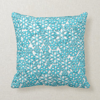 Ice Cold Snowflakes pattern Pillow