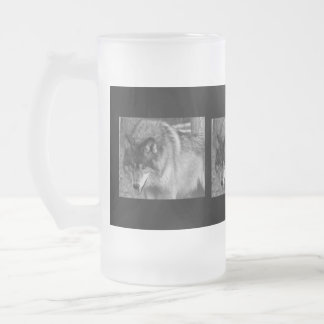Ice Cold Wolf Stare Frosty Mug