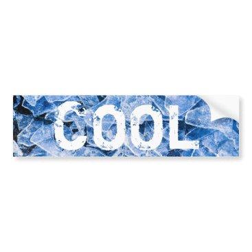 Beach Themed Ice cool bumper sticker